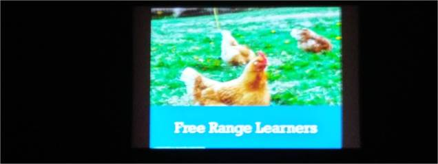 Slide from Claire Amos' keynote