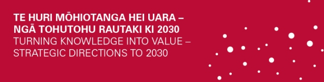 Turning knowledge into value - Strategic directions to 2030